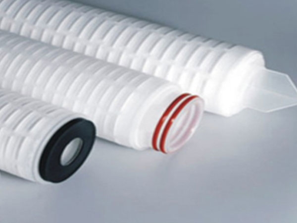 Folded microporous membrane filter